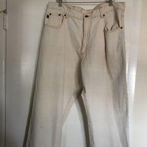 COMPANY 81 , men's jeans , size 36 x32, white off